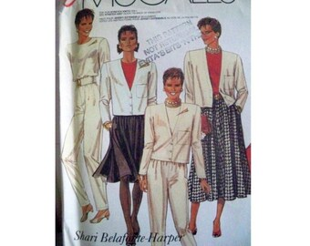 McCall's Pattern 3298 - Vintage Jacket Skirt Pants Pattern -  Shari Belafonte-Harper Collection - Uncut