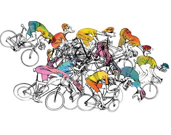 Cycling Print 'Pelatoon Stage 04'