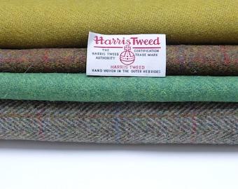 Harris Tweed Fabrics - 4 Piece Mix - Greens