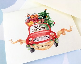 Personalized Christmas Card, Custom Holiday Cards, Set of 10