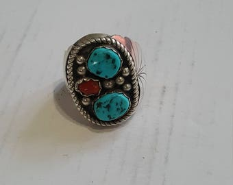 Navajo Sterling Silver Signed Ring size 11