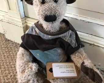 Mohair weighted bear