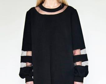 See through blouse- dress