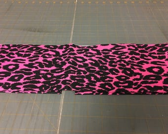 no. 1005 Pink and black leopard Fabric by the yard