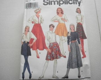 Pattern Vintage Skirts 6 Styles Sizes 4 to 8 Simplcity 8018
