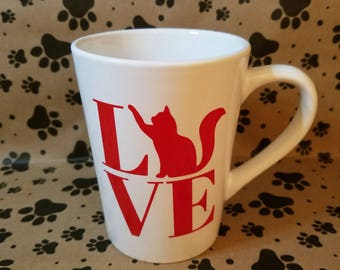 Cat Love Mug for Pet Lovers!