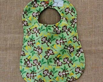 Waterproof Monkey Print Baby Bib