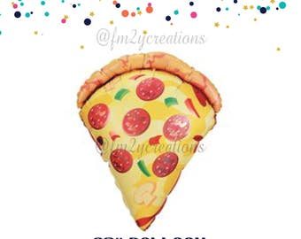 PIZZA Balloon   Pizza Party Decorations   Pizza Birthday Party   Pizza Slice Balloon   Have a Supreme Birthday   Pizza Lover   Summer Pizza