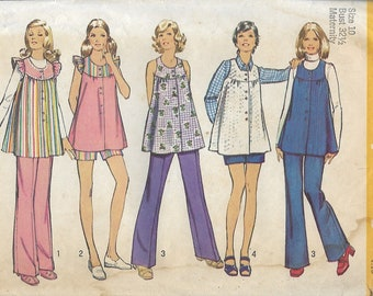 Simplicity 5421 Maternity Smock Top, Shorts And Pants Sewing Pattern, Bust 32 1/2, UNCUT