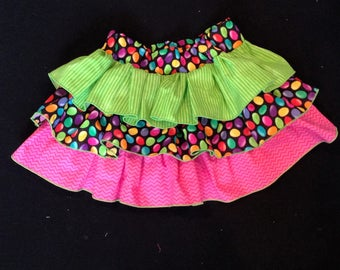 Easter Skirt with three ruffles