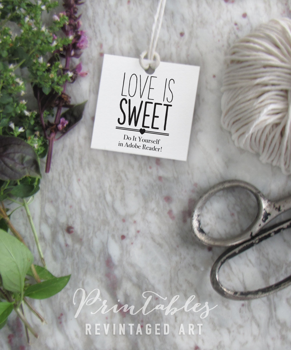 Love is sweet tags printable editable favor tag template this is a digital file solutioingenieria Images