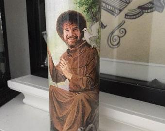 St Bob Ross Prayer Candle