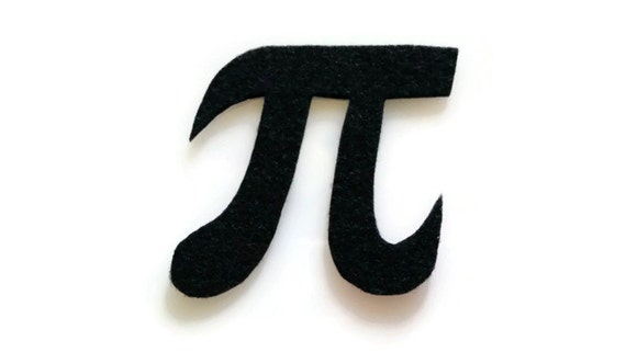 Pi Symbol Patch No Sew Felt You Pick The Color