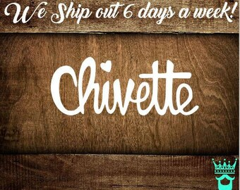 Chive Decal, Chivette Decal, Custom Chive decal, Yeti Decal