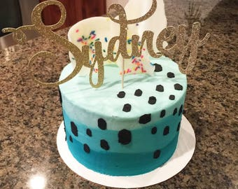 Birthday Cakes For Boys With Name ~ Cake topper names etsy