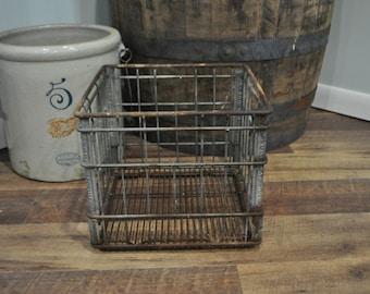 Vintage Steffens Wich Wire Milk Crate