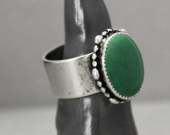 Malachite Ring, Adjustable Ring, Green Ring, St. Patrick's Day Ring, Ornate Ring, Statement Ring,  Meditation Jewelry, Crystal Jewelry,