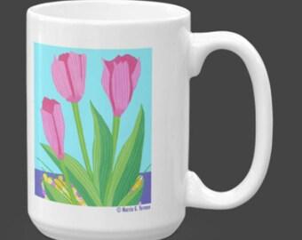 Tulip Mug: 15 ounces