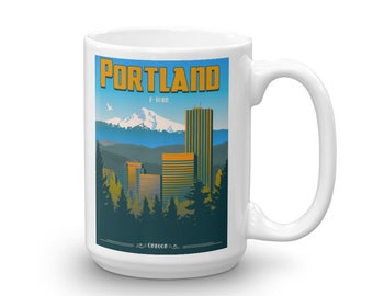 "Portland ""P-Town"" Oregon | Coffee Mug"