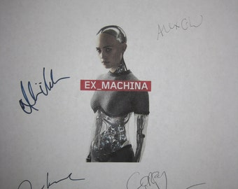 Ex Machina Signed Film Movie Screenplay Script x5 Autographs Domhnall Gleeson Alicia Vikander Corey Johnson Oscar IsaacAlex Garland sci fi
