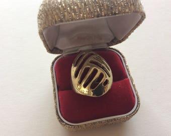 Superb mid century BRUTALIST ring.