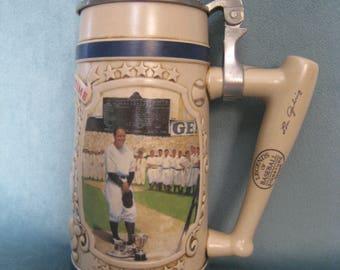 Vintage New York Yankees Lou Gehrig Legends of Baseball Bradford Museum Beer Stein