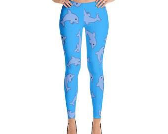 Dolphin Leggings For Women Yoga Pants Yoga Leggings Workout Leggings Pattern Leggings Printed Leggings Fashion Leggings Womens Tights Yoga