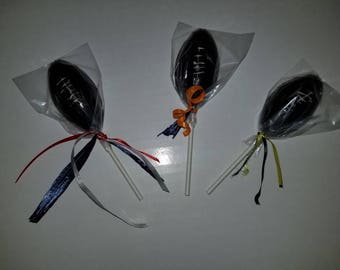 NFL Football Edible Chocolate Lollipops - 10 qty