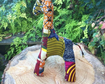 Giraffe Doll - African Print Animals - African Print Doll - African Doll - Animal Doll - Stuffed Animal - African Dcorations - African Toy