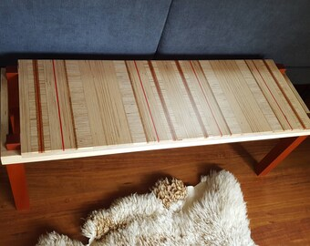 Plywood Bench or Table with red detail