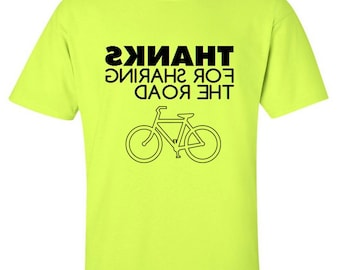 Honk If You're About To Run Me Over Share The Road Bicycle T-Shirt Cyclist Mountain Bike Riding Funny Humor Father's Day Gift Idea