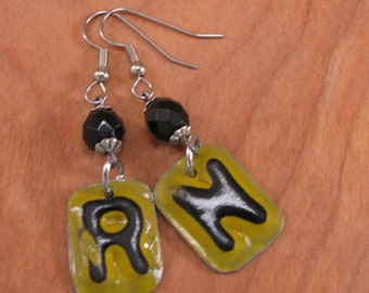 Gift for Nurse - License Plate Jewelry - Repurposed License Plate Letters - Nursing - RN - License Plate Letter Earrings - Kitschy, Fun