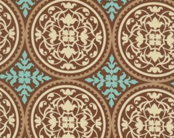 Scrollwork  in Caramel  by Joel Dewberry AVIARY 2  Cotton Quilt Fabric 1 yard