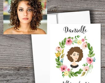 Bridesmaid - Will You Be My Bridesmaid custom card -personalized maid of honor, matron of honor, bridesmaid, flower girl card