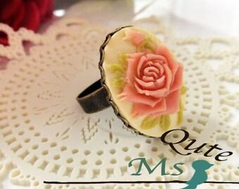 Romantic Rose Ring - Dusty pink