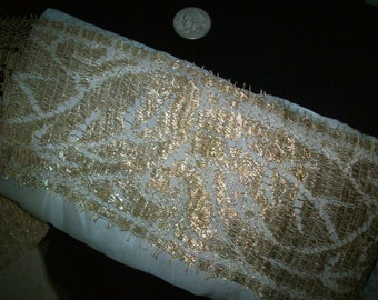 "Metallic gold lace 1910s authentic yardage by the yard 4"" wide"