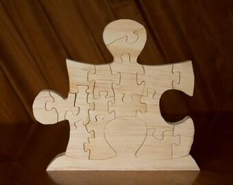 17 Piece Standing Puzzle Piece Puzzle