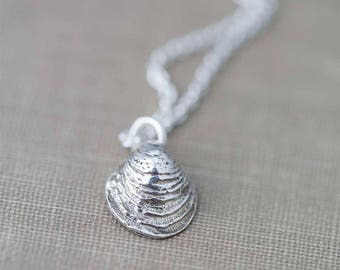 SALE Sterling Silver Sea Shell Necklace for Women, Handmade Jewelry Gift for Women, Women's Mermaid Necklaces