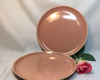 Salad Plates Russel Wright American Modern Coral Steubenville - set of 2