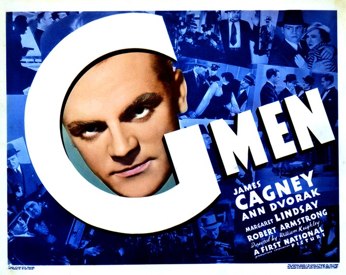 "Lobby Card From the Film ""G Men"" Starring James Cagney (Reproduction) - 8X10 or 11X14 Photo (MP-000)"