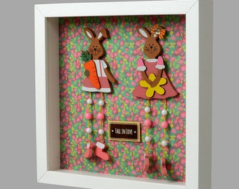 Rabbit girl & boy - swinging legs!  2 styles