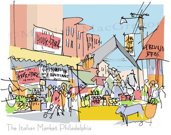 Philadelphia: Italian Market Philadelphia fine art print 2 sizes