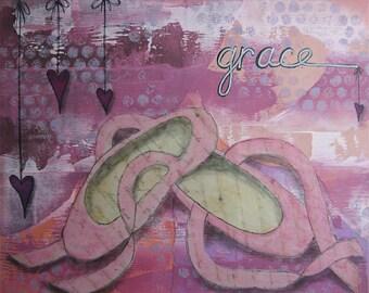 grace - 8 x 10 ORIGINAL COLLAGE by Nancy Lefko