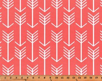 Premier Prints Arrow in Coral Home Decor fabric, 7 oz Fabric, 1 yard