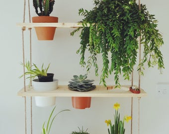 Reclaimed Pallet Timber Hanging Plant Wall