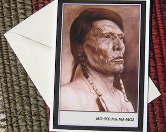 Chief Mo-See-Ma-Ma-Mos Blank Greeting Card