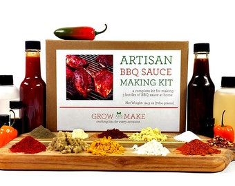 DIY Artisan BBQ Sauce Making Kit - Learn how to make home made barbecue sauces