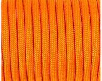 Paracord 550 Type 3 - Signal Orange - Genuine Mil Spec Parachute Cord