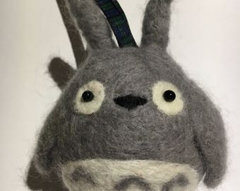 Needle felted Totoro decoration