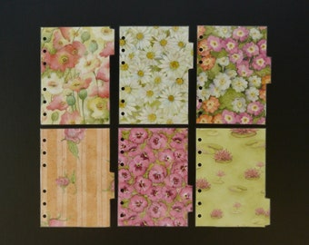"""Laminated dividers - A6 - """"Flowers"""""""
